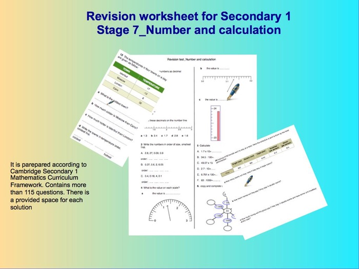 Number and calculation_Revision