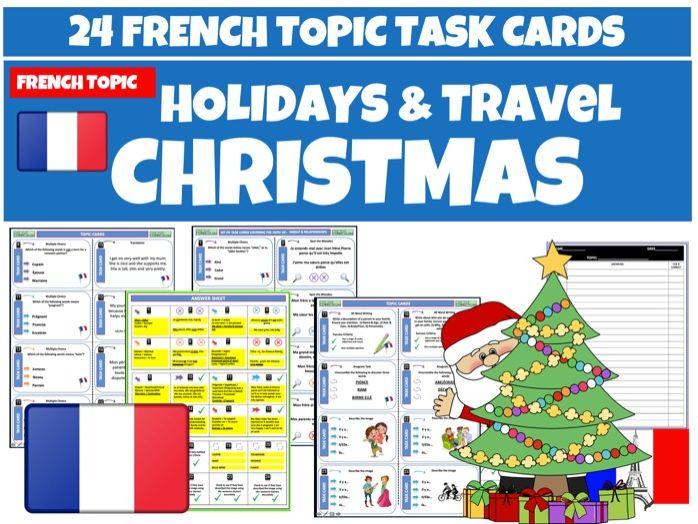 French MFL - Christmas Task Cards