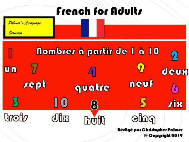 French for Adults: Numbers 1-10