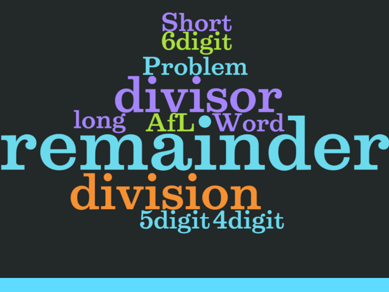 UKS2 (Year 5 and Year 6) - Short and Long division with remainders ...