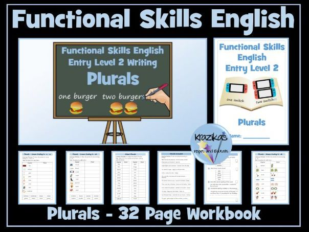 Functional Skills English - Entry Level 2 - Writing - Plurals