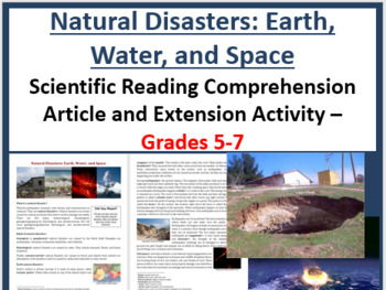 Natural Disasters: Earth, Water, and Space - Reading Article - Grades 5-7