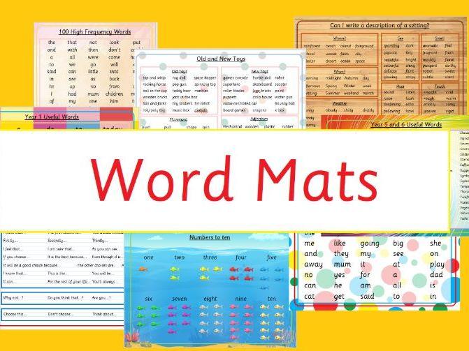 Descriptive Writing Setting Word Mat