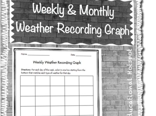 Weekly & Monthly Weather Recording Graph