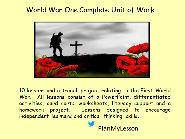 causes of world war one ks3 Ks3 world war i wwi sow this play has been written to commemorate the hundredth anniversary of the outbreak of world war one the holocaust the causes.