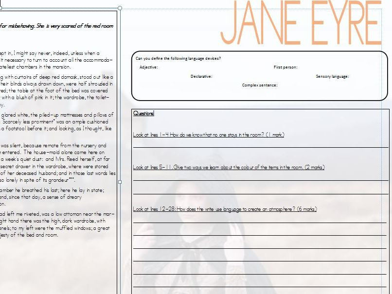 Jane Eyre 19th Century GCSE English