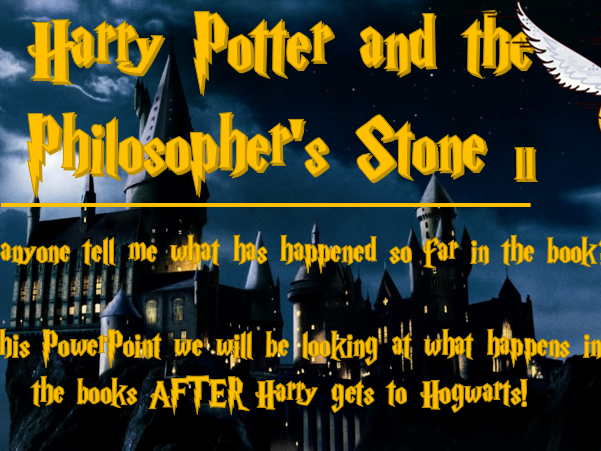 Harry Potter and the Philosopher's Stone worksheets