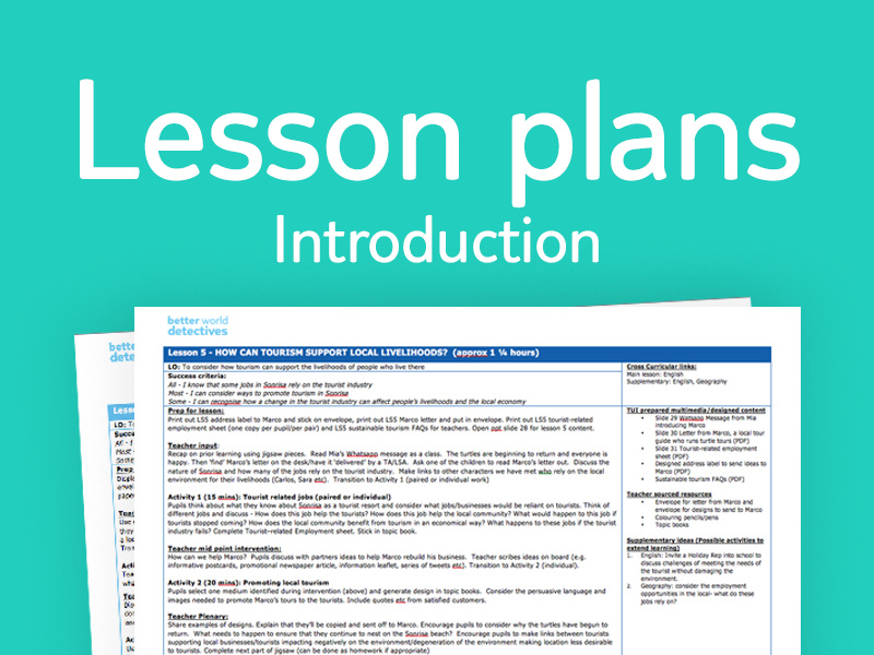 Introduction and 6x lesson plans