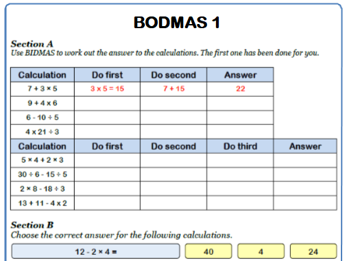 Bodmas Maths Worksheet  By Mrmathsworksheets  Teaching Resources  Tes Cover Image