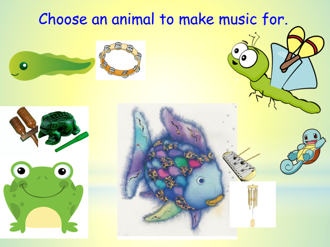 2. The Rainbow Fish Sound Story.  Part of my  Forest Schools Music SOW