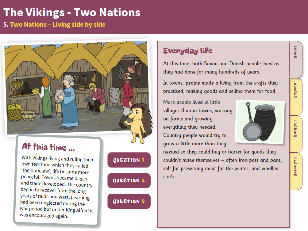 Living Side by Side - Interactive Teaching Book - The Vikings KS2