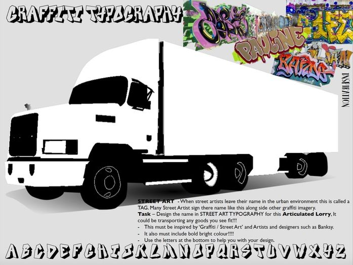 Graffiti Tag Lorry Design -  In the style of Banksy