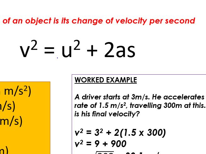 P9 Motion Physics Trilogy AQA Full Unit