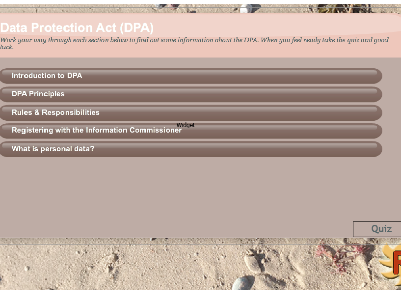 Data Protection Act Interactive Quiz