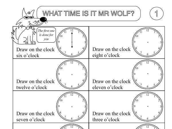 primary numeracy worksheet pack showing the time by beckystoke teaching resources. Black Bedroom Furniture Sets. Home Design Ideas