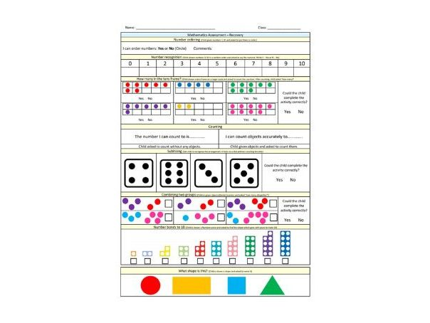 Maths Covid Recovery Assessment