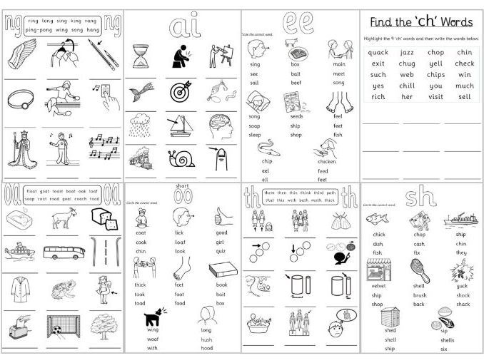 Phase 3 Phonics Worksheets
