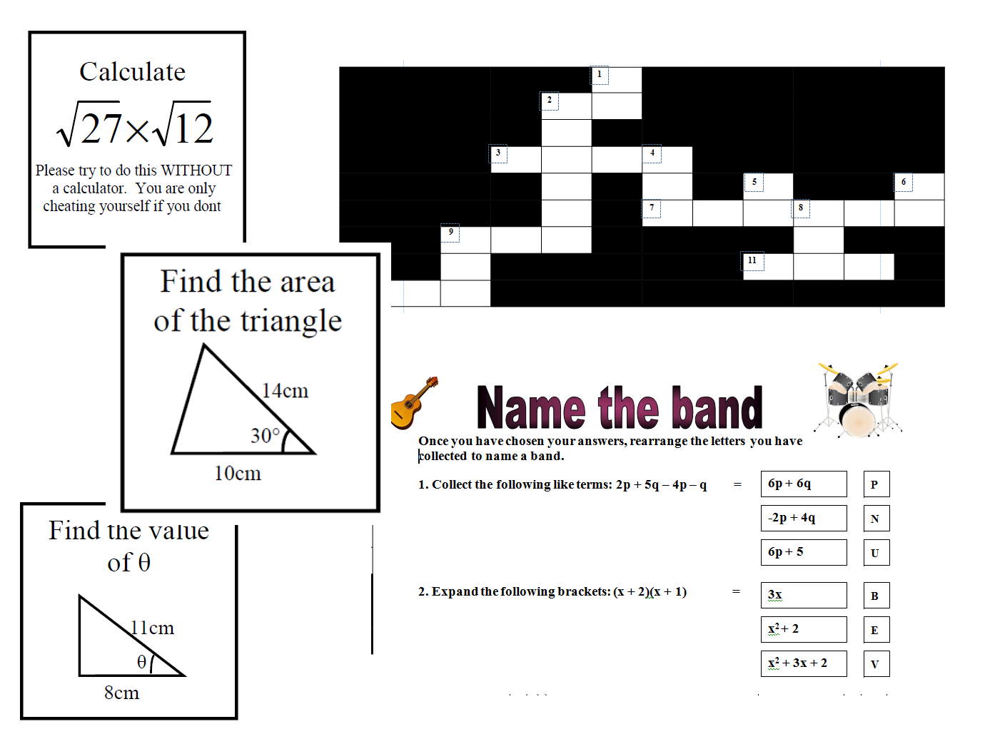 Fun revision activities for GCSE Maths