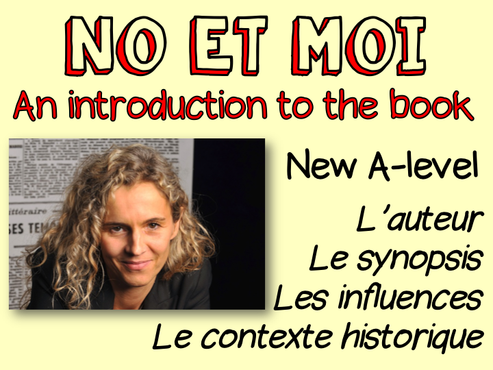No et moi - an introduction to the book - the author - synopsis - influences - historical context