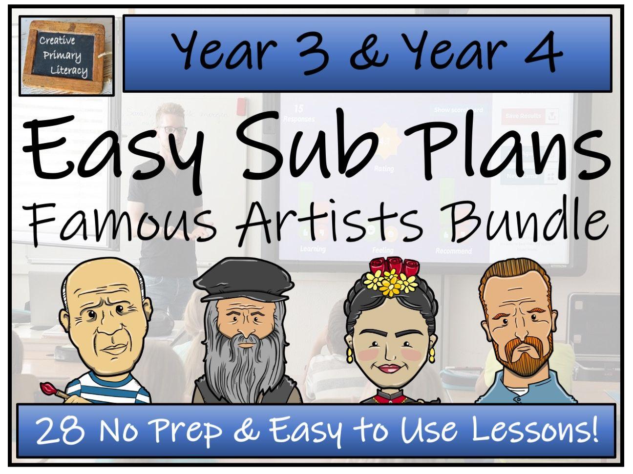 LKS2 Easy Substitution Plans   Famous Artists Bundle
