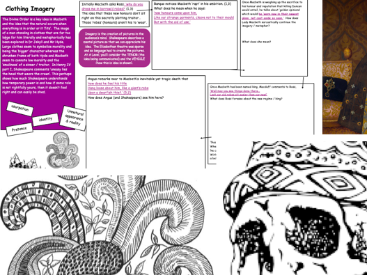 GCSE revision of Macbeth (A02)/ Methods Shakespeare's use of clothing imagery
