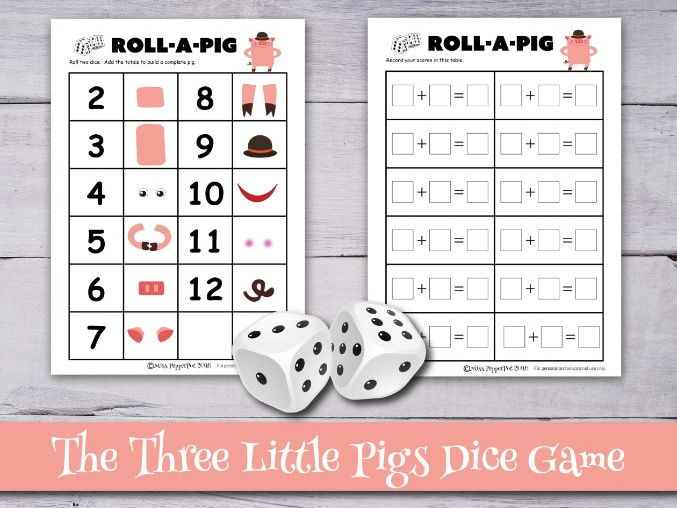 The Three Little Pigs Dice Game