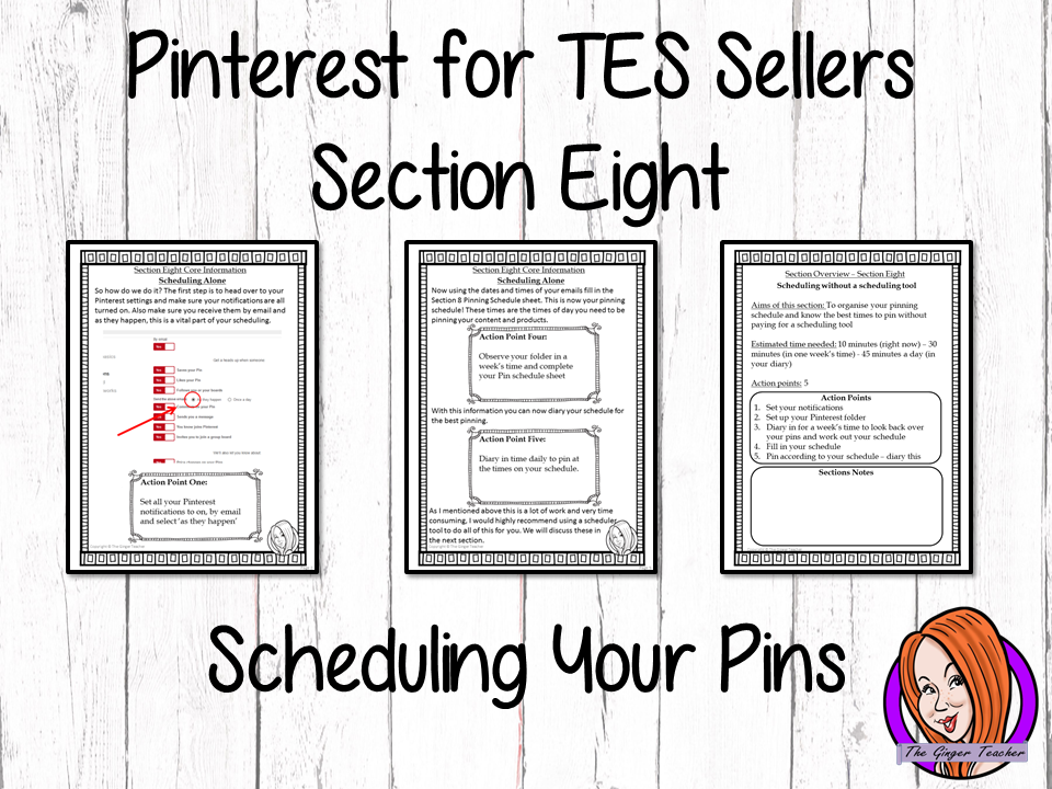 Pinterest for TES Sellers – Section Eight: Scheduling Your Pins