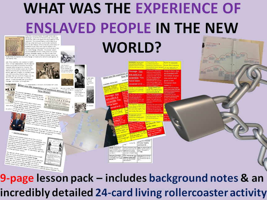 Slave experience - 9 page lesson pack