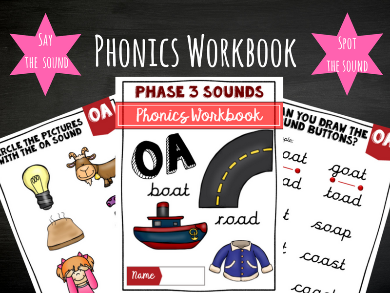 'oa' Phonics Workbook