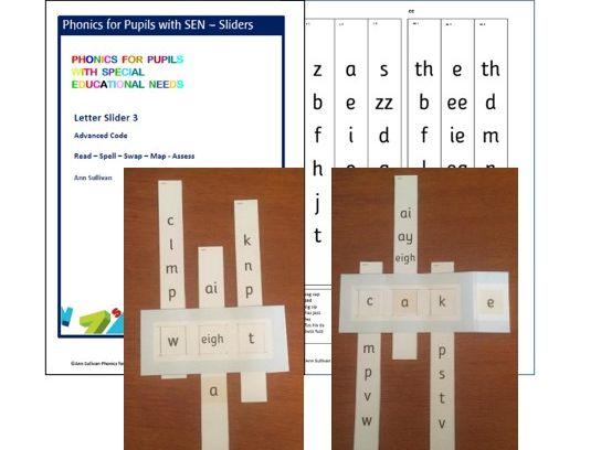 Letter Sliders 3 - Advanced Code - Read / Spell / Swap / Map / Assess - Phonics for SEN