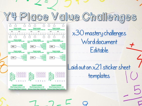 x30 Y4 Place Value Mastery Challenges