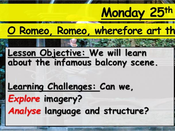 Romeo and Juliet - Balcony Scene - Act 2
