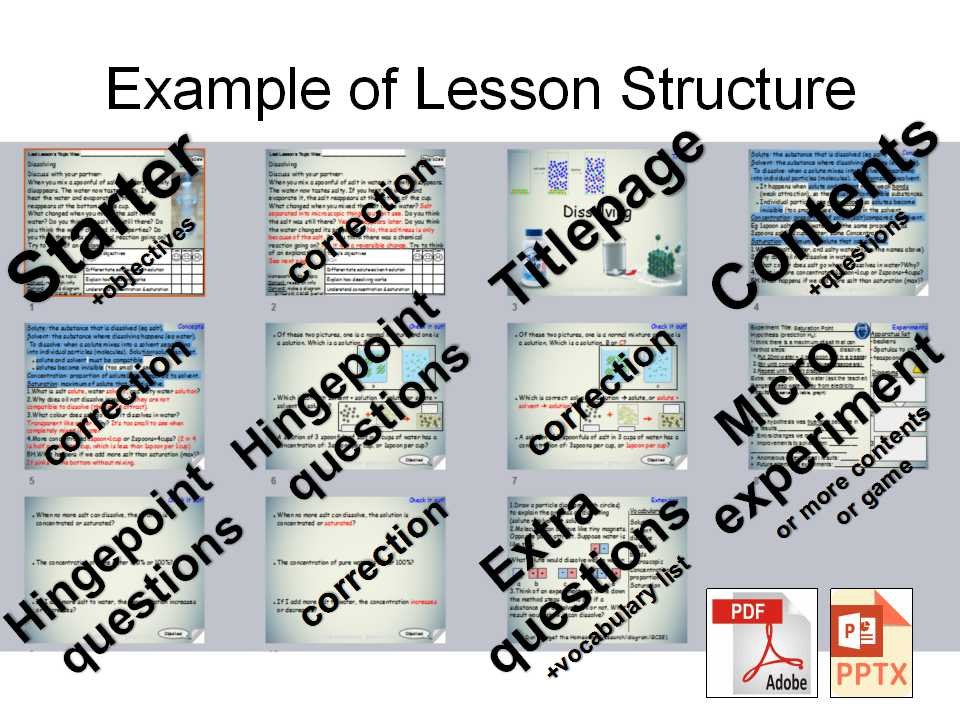 Science AQA whole lesson presentation (pptx+pdf) for KS3 Chemical changes - Experiment UNI