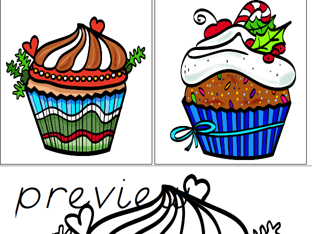 Holiday Cupcake Matching Cards