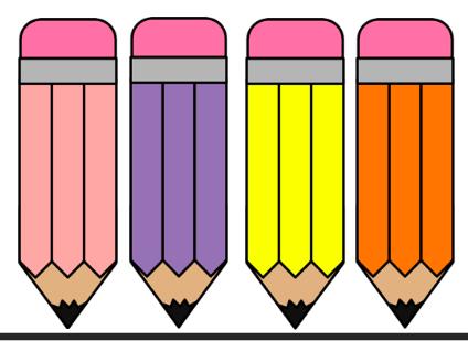 Colourful pencil graphics- editable