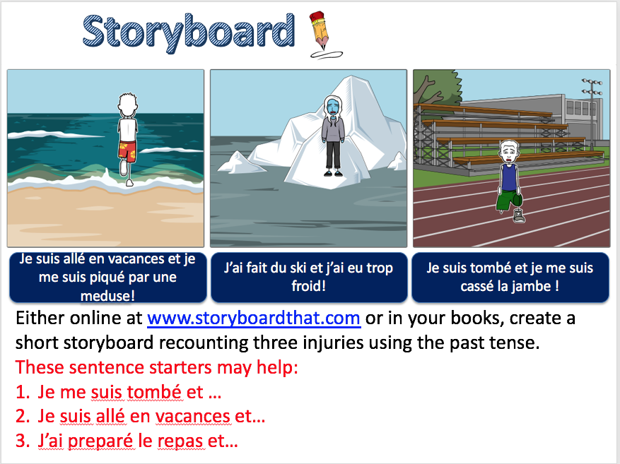 Describing injuries: past tense - Expo 3 Module 3 - Differentiated lesson