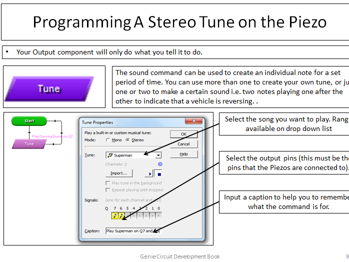 Free Sample of Genie Microcontroller How 2 - Connecting a Piezo