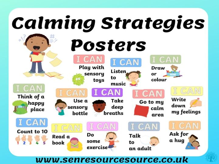 Calming Strategies Posters