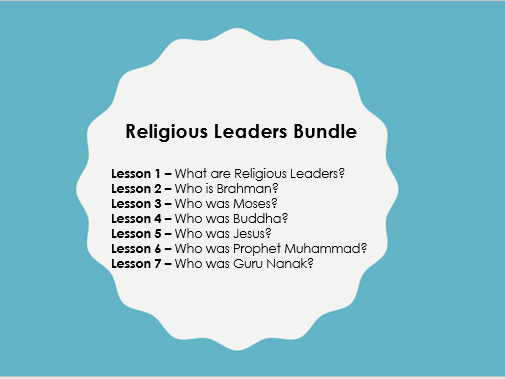 Scheme of Learning: Religious Leaders