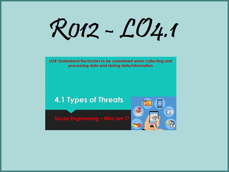R012 LO4.1 - Social Engineering - Who am I
