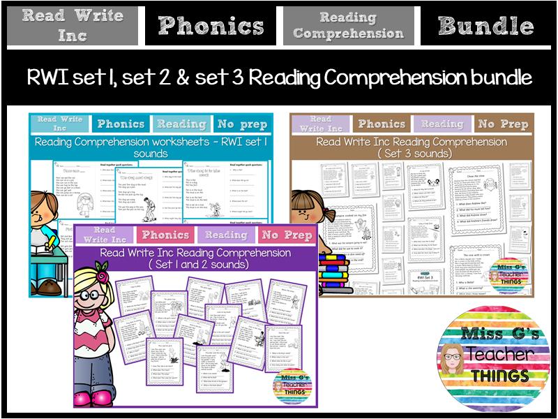 RWI Phonics: Reading Comprehension Book Bundle - Reception Y1 Y2 Y3