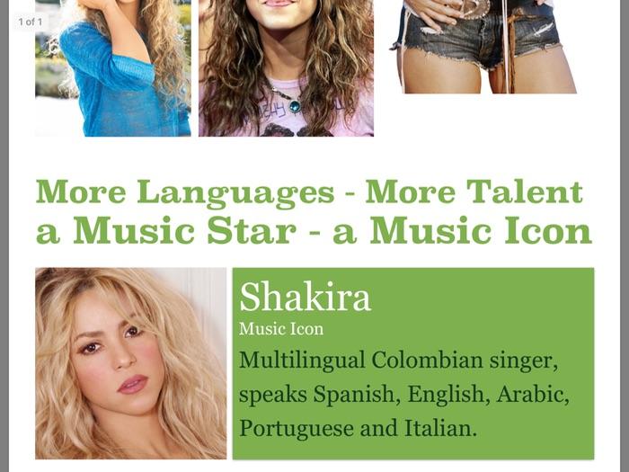 MFL Poster 7 - Shakira