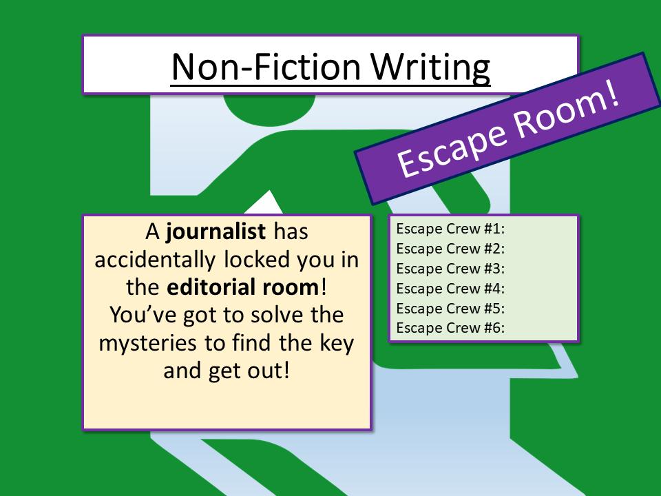 Non-Fiction Writing Escape Room