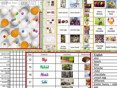 Easter English 3 resources for less than 2! activity pack for EAL, ESL, EFL