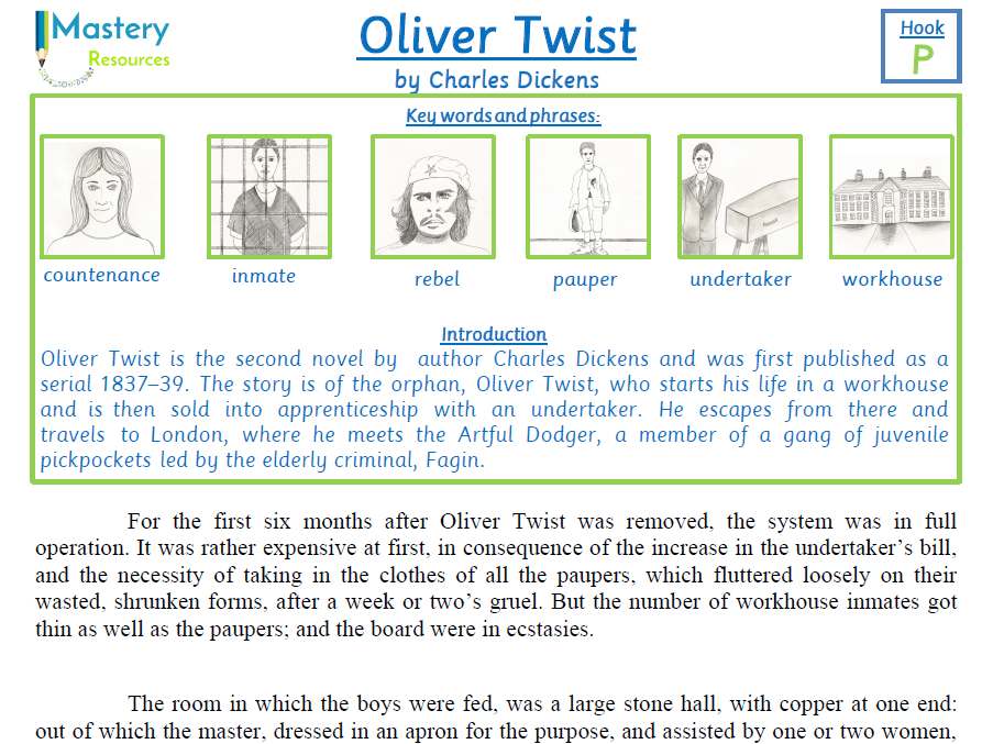 Oliver Twist by Charles Dickens comprehension KS2