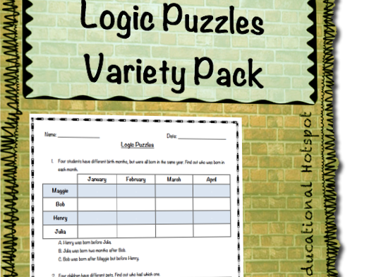 Logic Puzzles Variety Pack