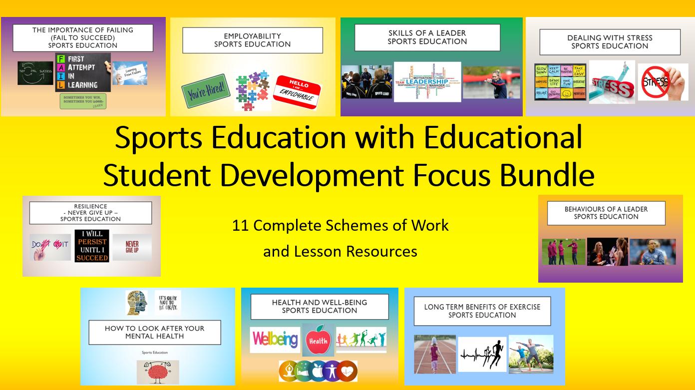 Sports Education with Educational Student Development Focus Bundle