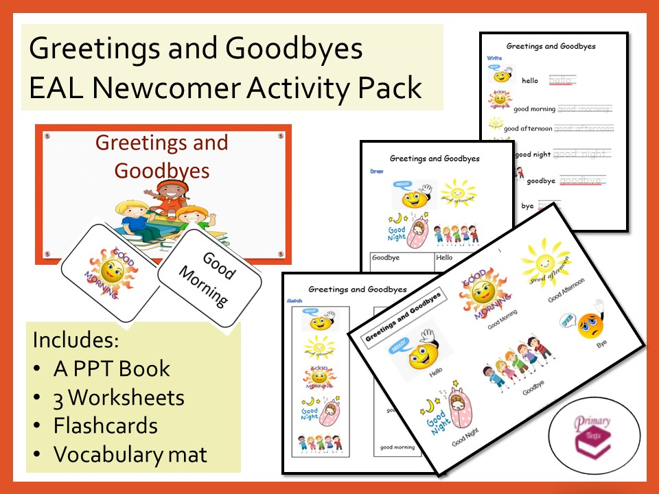 Greetings and Goodbyes EAL Activity Pack