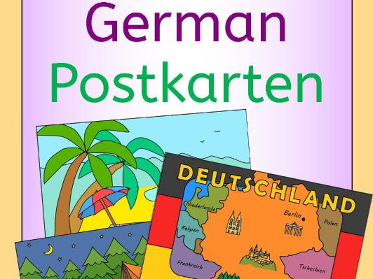 German Summer Holiday - write a postcard - Postkarten