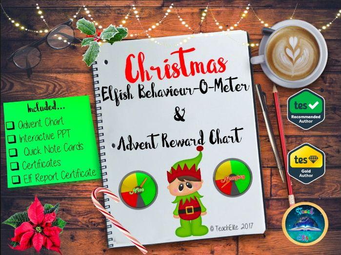 Christmas: Elfish Behaviour-o-meter & Advent Reward Chart